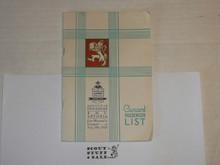 1929 World Jamboree, USA Contingent Souvenir Program and Passanger list on the RMS Antonia headed to the Jamboree
