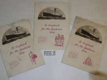 1929 World Jamboree, USA Contingent 3 different Special Menus for the RMS Samaria headed to the Jamboree