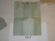 1929 World Jamboree, Letter Home from USA/BSA Contingent Member on Contingent Stationary, with envelope #2