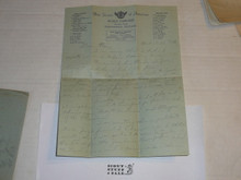 1929 World Jamboree, Letter Home from USA/BSA Contingent Member on Contingent Stationary, with envelope #3