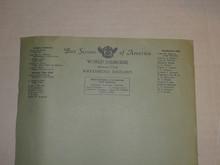 1929 World Jamboree, Official USA/BSA Contingent Stationary, Unused
