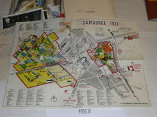 "1933 World Jamboree, Color Map of Jamboree site suitable for framing, 22"" L x 15 1/2"" H, was in a scrapbook"