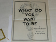 "Boys' Life Reprint dated April 1929 titled ""What do you Want to Be"", 14 pages"