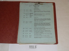 1957 World Jamboree, Packet of Paperwork for USA/BSA Contingent Travel and Participation
