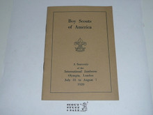 1920 World Jamboree, Boy Scouts of America Souvenier Book