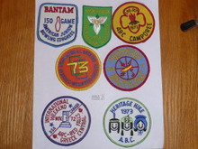 Group of 7 1970's Girl Scout Patches