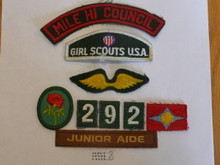 Group of 9 - 1970's Girl Scout Insignia Patches
