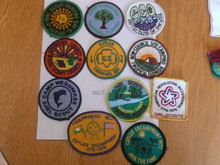 Group of 11 - 1970's Girl Scout Patches