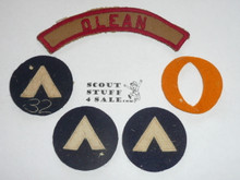 Camp Olean, 1930's Felt Camp Patches, Seneca Council, community strip and silk ribbon shown for provenance only (not included)