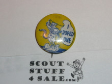 I Roped One BSA Celluloid Boy Scout Button