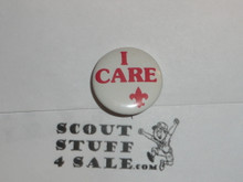 I Care Celluloid Boy Scout Button