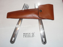 1970's Official Boy Scout 2 Forks in Case, By Imperial