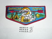 Order of the Arrow Lodge #2 Sanhican s16 Flap Patch
