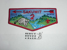 Order of the Arrow Lodge #2 Sakuwit s6 Flap Patch