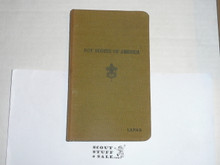 Lefax Boy Scout Fieldbook, Canvas Binding, Includes numerous Individual Record Sheets and Lefax Cover page