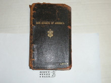 Lefax Boy Scout Fieldbook, Leather Binding, Considerable wear, Includes many lined and blank Lefax Pages