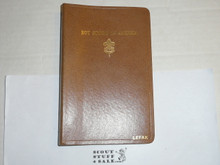 Lefax Boy Scout Fieldbook, Scarce Cardboard Binding, back cover separated, Includes many assorted BSA and Lefax Pages