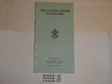 Lefax Boy Scout Fieldbook Insert, The Patrol System in Scouting, 1923 Philadelphia Council