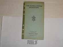 Lefax Boy Scout Fieldbook Insert, The Patrol System in Scouting, 1923 Philadelphia Council #2