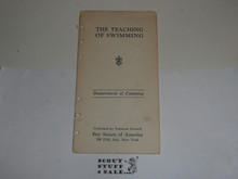 Lefax Boy Scout Fieldbook Insert,  The Teaching of Swimming, 1920's, Official BSA