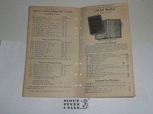 Lefax Boy Scout Fieldbook Insert, Lefax Boy Scout Price List, VERY RARE