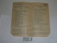 Lefax Boy Scout Fieldbook Insert, Lefax Boy Scout Price List, VERY RARE #2