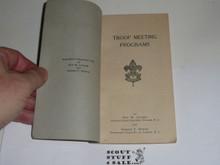 Lefax Boy Scout Fieldbook Insert, Troop Meeting Program Book, 1926