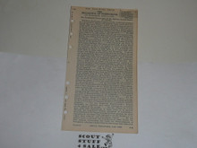 Lefax Boy Scout Fieldbook Insert, The Declaration of Independence, 1926