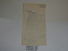 Lefax Boy Scout Fieldbook Insert, United States Drawn Map
