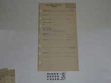 Lefax Boy Scout Fieldbook Insert, Treasurer's Monthly Report Form, BS715