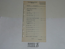 Lefax Boy Scout Fieldbook Insert, Treasurer's Monthly Report Form, BS715 version 3