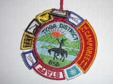 Tioga District Patch with many segments, Unknown Council, sewn