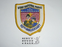 Utah National Parks Council Patch (CP), 1981 60th Anniversary