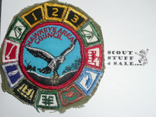 Hawkeye Area Council Patch (CP) with many segments, sewn