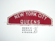 New York City Queens Council Red/White Council Strip, Used - Scout