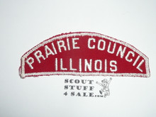 Prairie Council Red/White Council Strip, Used - Scout