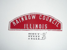 Rainbow Council Red/White Council Strip -Scout