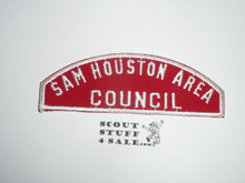 Sam Houston Area Council Red/White Council Strip -Scout