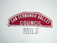 San Fernando Valley Council Red/White Council Strip, Used - Scout