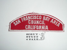 San Francisco Bay Area Council Red/White Council Strip, Used - Scout