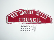 San Gabriel Valley Council Red/White Council Strip, Used - Scout