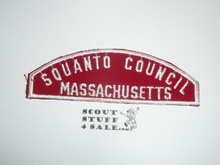 Squanto Council Red/White Council Strip -Scout