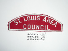 St. Louis Area Council Red/White Council Strip -Scout