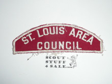 St. Louis Area Council Red/White Council Strip, Used - Scout