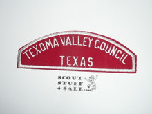 Texoma Valley Council Red/White Council Strip -Scout