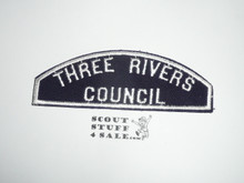 Three Rivers Council Red/White Council Strip -Scout