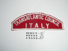 Transatlantic Council ITALY Red/White Council Strip, used -Scout