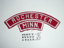 ROCHESTER Red and White Community Strip with MINN State Strip sewn to it