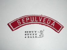 SEPULVEDA Red and White Community Strip