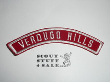VERDUGO HILLS Red and White Community Strip/Council strip